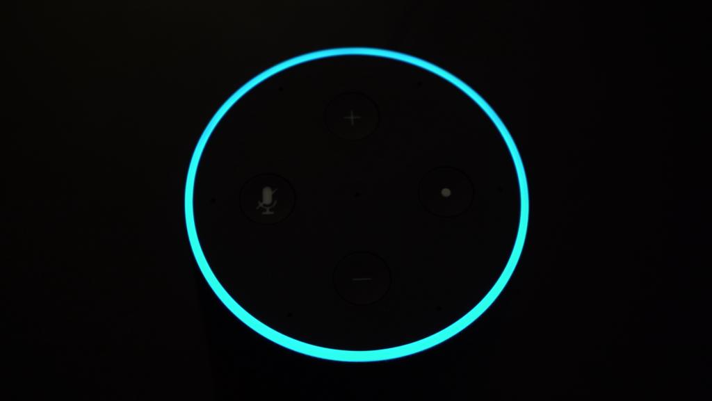 Alexa's blue ring on the Amazon Echo