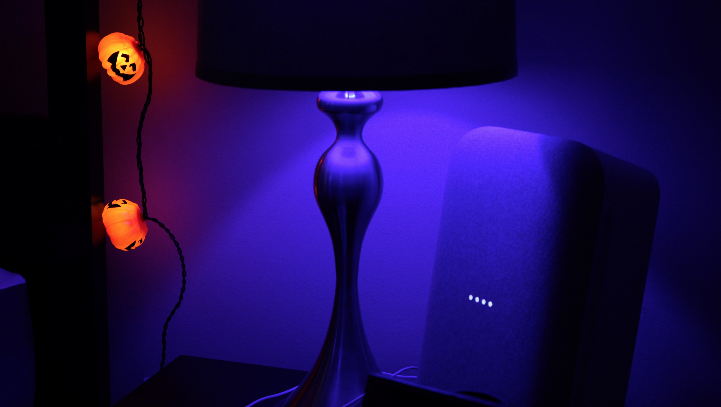 Control lights in the room your Google Home device is in.