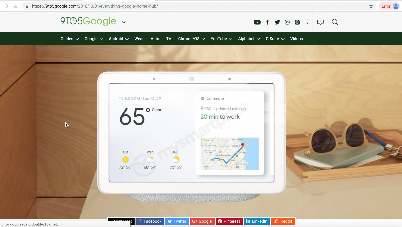 Google Home Hub render (As seen on 9TO5Google)
