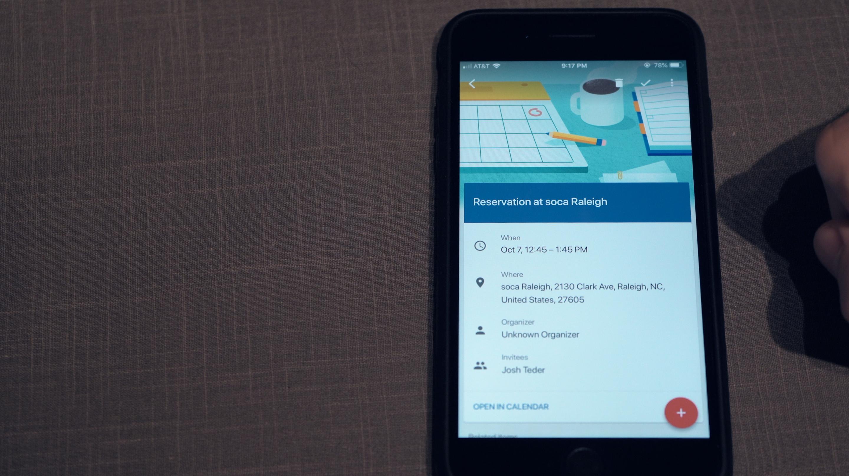 Google Calendar integration with Inbox